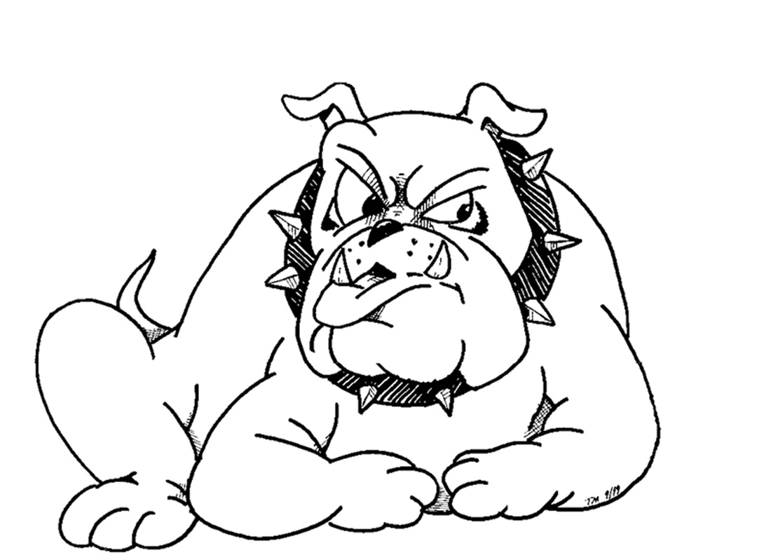 bulldogs coloring pages - photo#13